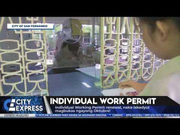#CityExpressNews: Individual Work Permit - September 30, 2018