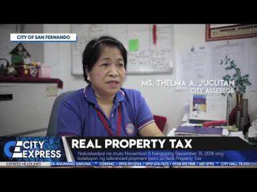 #CityExpressNews: Real Property Tax - October 17, 2018